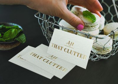 Maria DiGiantommaso - All That Clutter Text Logo Design