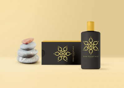 OHM Essentials Product Packaging + Logo Design
